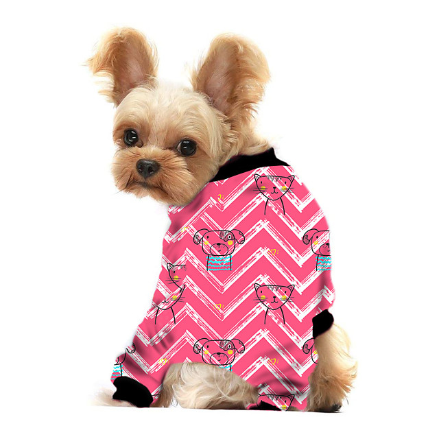 Dog Shirt / T-Shirt Animal Printed Cute Casual / Daily Dog Clothes Puppy Clothes Dog Outfits Breathable Yellow Blue Pink Costume for Girl and Boy Dog Polyster S M L XL