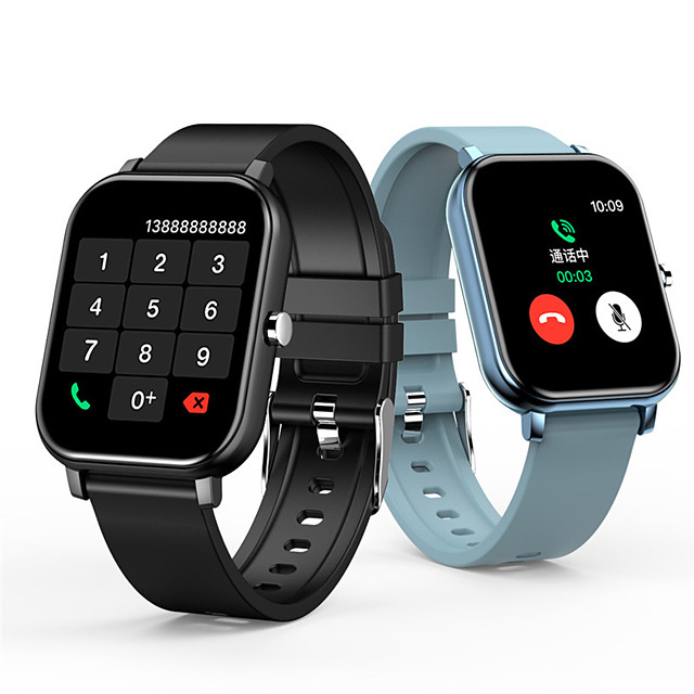 1.54-inch Smartwatch Support Bluetooth Call/Play Music/Voice Assistant/Heart Rate/Blood Pressure Measure, Sports Tracker for Android/iPhone/Samsung Phones