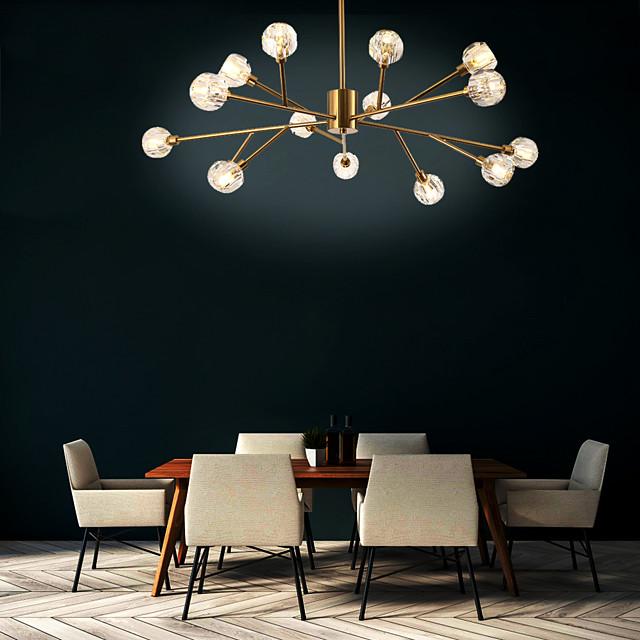 108 cm Sputnik Design Chandelier Gold Pendant Light Metal Basic Asymmetric Hem Nature Inspired Nordic Style Generic