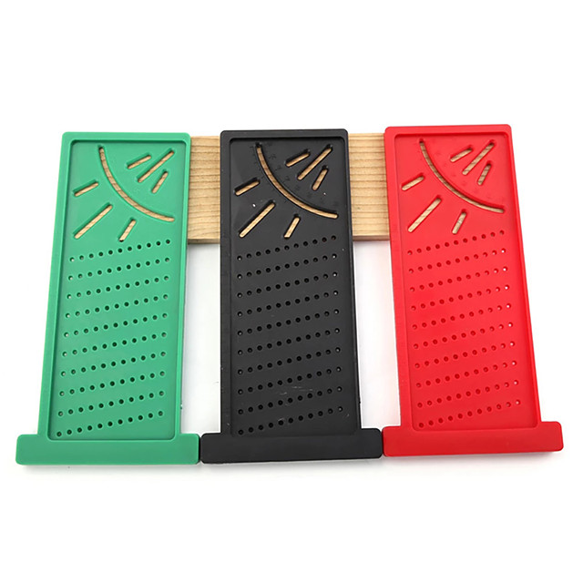 Plastic Precision Woodworking Scribe Mark Line Gauge T-Type Cross-Out Ruler Carpenter Measurement Measuring Tool Angle Ruler