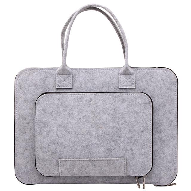 Unisex Bags Faux Fur Laptop Bag Top Handle Bag Zipper Plain Daily Office & Career 2021 Dark Gray Gray