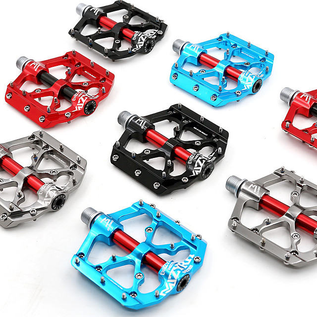 3 bearings mountain bike pedals platform bicycle flat alloy pedals 9/16