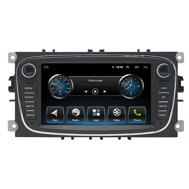 16G 32G Android 7Inch Car DVD MP5 Player for Ford Focus Mondeo Galaxy With Radio Stereo GPS Navigation Car Multimedia Touchscreen MP3 Player