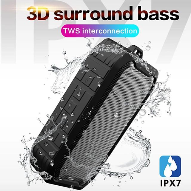 Bluetooth Speaker Outdoor Portable Waterproof IPX7 Wireless Bluetooth 5.0 Speaker Portable Wireless Bluetooth Speaker