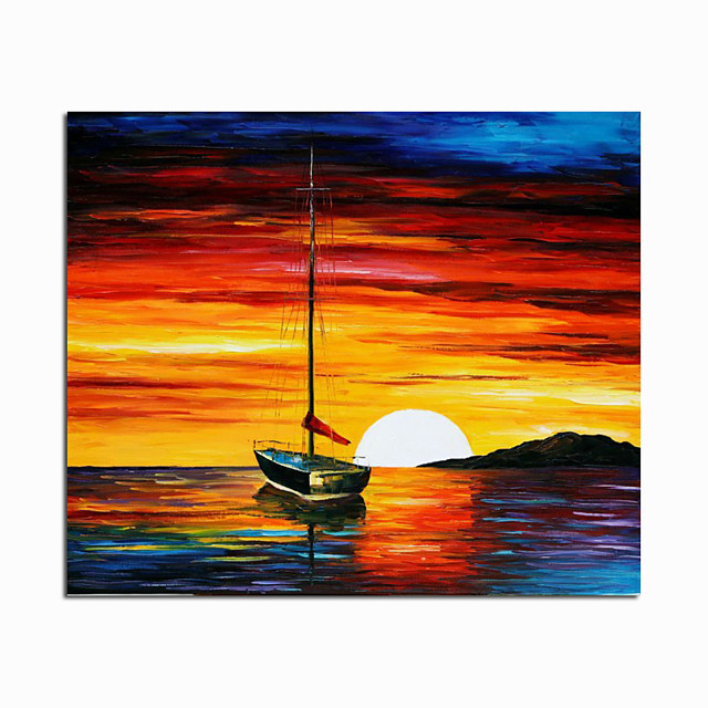 100% Hand Painted By Professional Artist Handmade Abstract Landscape Oil Painting On Canvas Living Room Home Decor Gold Art