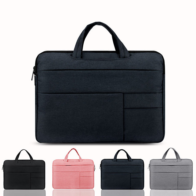 13.3 Inch Laptop / 14 Inch Laptop / 15.6 Inch Laptop Sleeve / Briefcase Handbags Canvas Solid Colored for Men for Women for Business Office Shock Proof