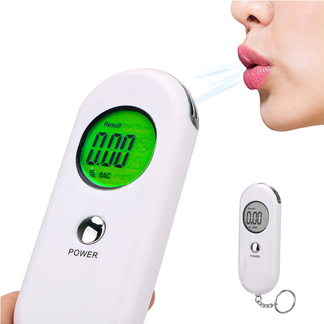 Alcohol Breath Tester Breathalyzer Analyzer Detector Test With Car Keychain Device Backlight LCD Screen Portable Car Electronics