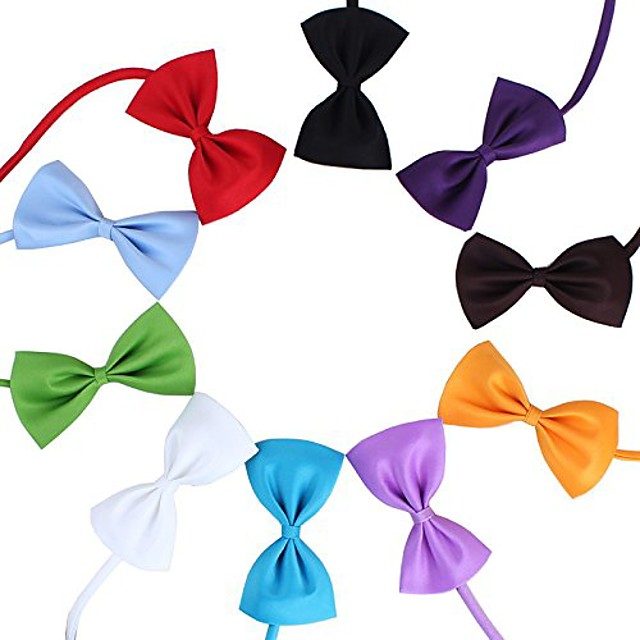 50 pcs multicolor pet bow ties tie collar dog neckties kitty cat puppy grooming accessories size 10.57cm