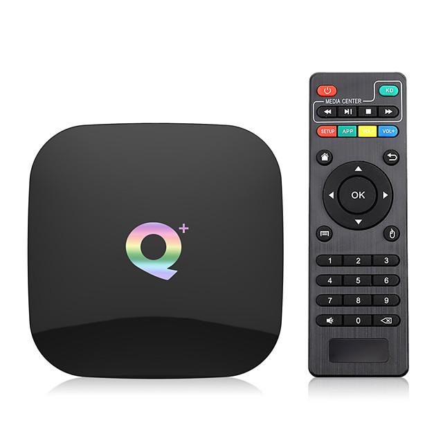 1GB+8GB Q Plus Smart TV Box Android 9.0 TV Box 8GB ROM Quad Core H.265 USB3.0 2.4G WiFi Set Top Box 4K TVBOX Media Player