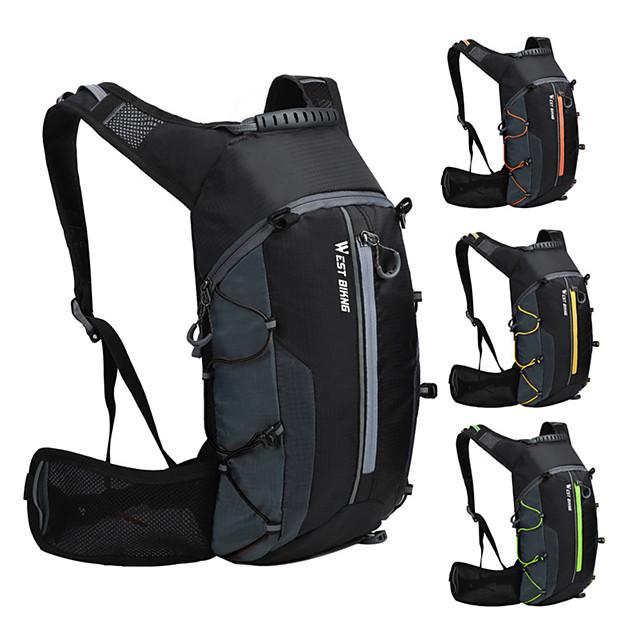 WEST BIKING® 10 L Cycling Backpack Sports & Leisure Bag Waterproof Portable Wearable Bike Bag Nylon Bicycle Bag Cycle Bag Cycling Hiking Outdoor Exercise