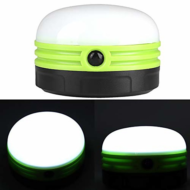 outdoor portable camping led light bulb dimmable night lamp led camping lantern for home camping emergency backpacking hiking(green)