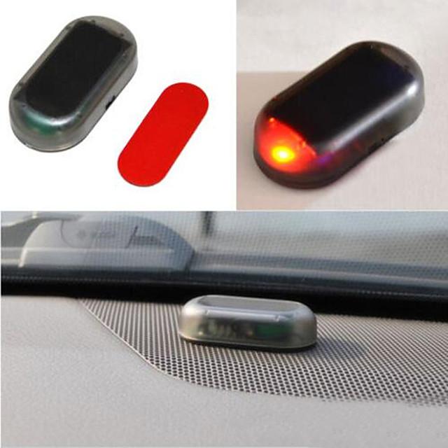 Car Fake Security Light Solar Powered Simulated Dummy Alarm Wireless Warning Anti-Theft Caution Lamp LED Flashing Imitation