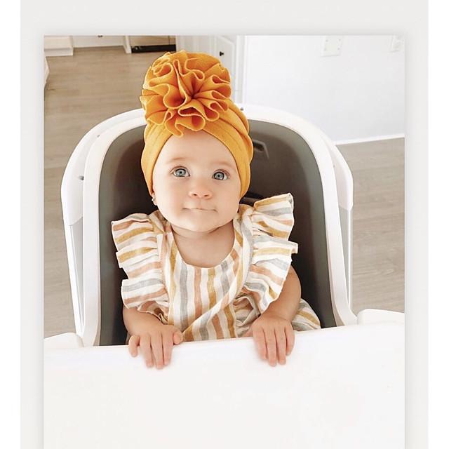 1pcs Infant Unisex Active Floral / Solid Colored Flower Hats & Caps White / Black / Blue One-Size