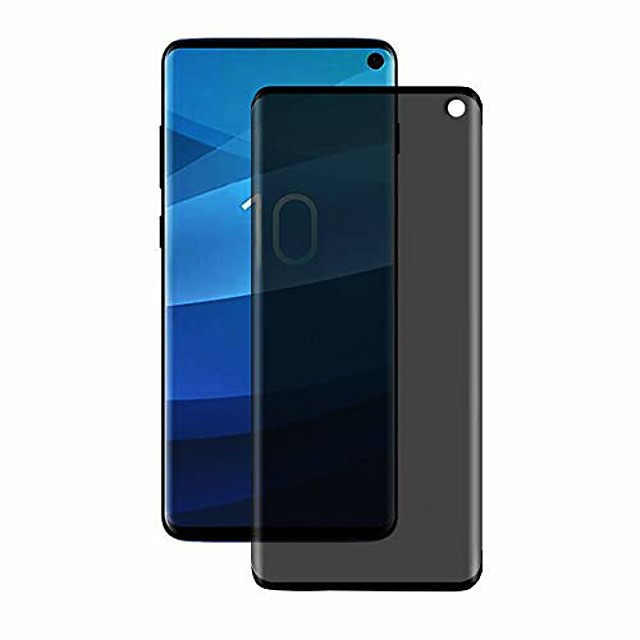 galaxy s10 privacy screen protector,  tempered glass anti glare/spy anti-scratch no bubble 9h hardness 3d touch compatible with samsung galaxy s10