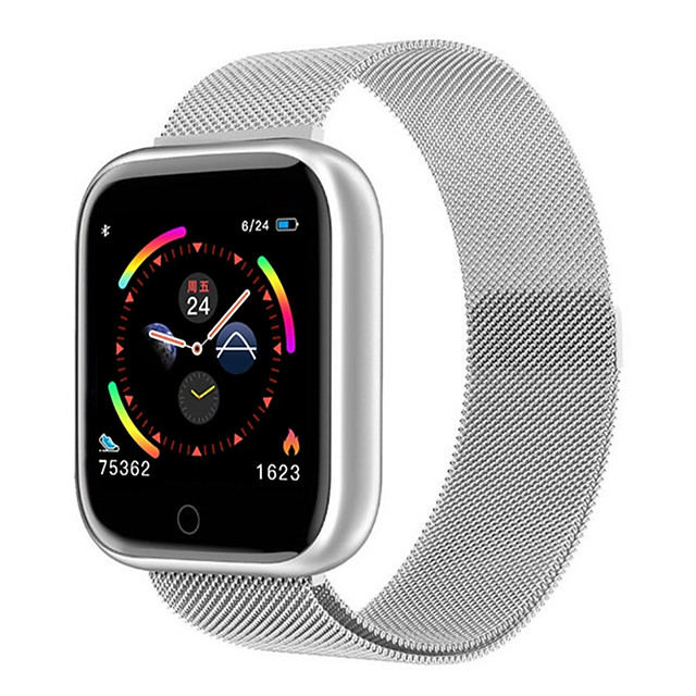Stainless Smartwatch for Apple/Android/Samsung Phones, Sports Tracker Support Heart Rate/Blood Pressure Measure