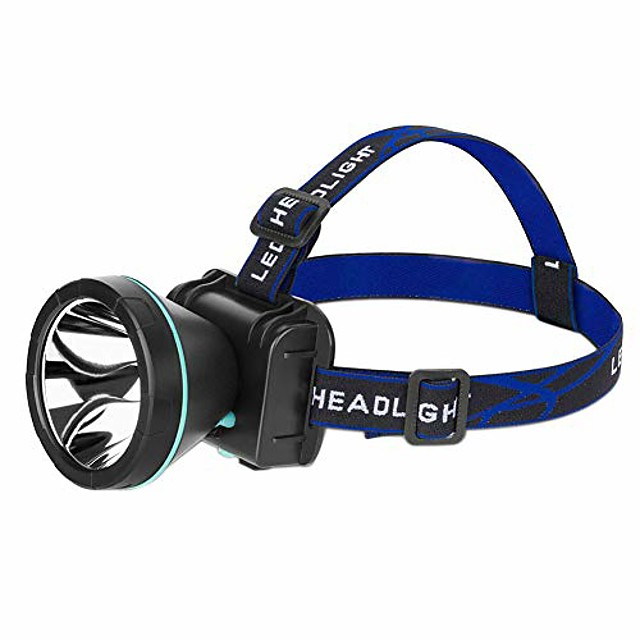 led headlamp rechargeable led head lamp flashlight outdoor camping hiking fishing headlight perfect for runners, lightweight, waterproof, adjustable headband white light us plug