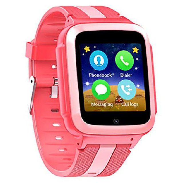 smart watch unlocked 2g gsm two way phone call sos call touchscreen front camera games learning numbers (rosy)