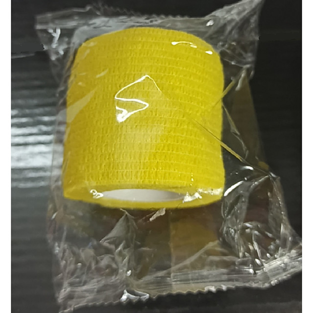 Basekey 1pcs Medical Grade Tattoo Bandage Self-Adhesive Elastic Tape 4.5m For Grip Random Color