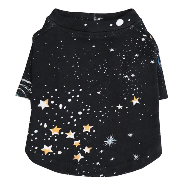 Dog Shirt / T-Shirt Stars Fashion Cute Casual / Daily Winter Dog Clothes Puppy Clothes Dog Outfits Breathable Black Costume for Girl and Boy Dog Cotton S M L XL