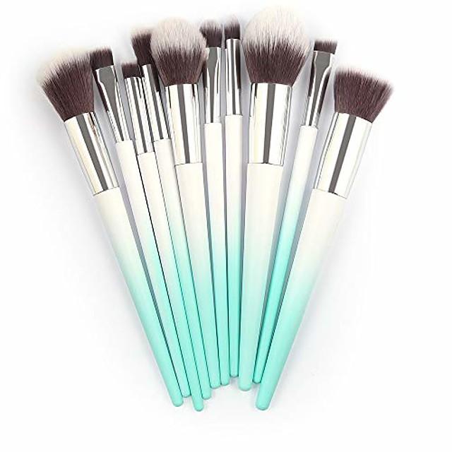 10pcs make up foundation eyebrow eyeliner blush cosmetic concealer brushes by palalibin(free,gold)