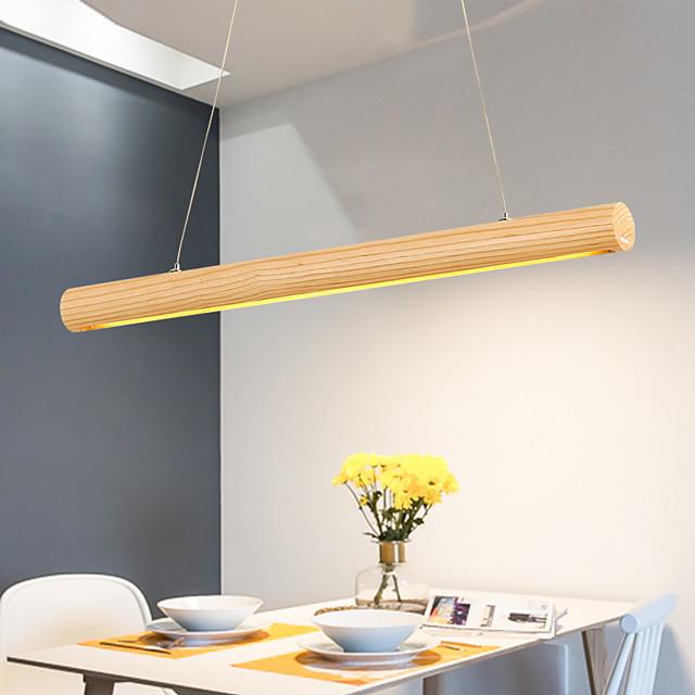 65/95/120cm LED Pendant Light Nordic Modern Wood Island Light Acrylic Painted Finishes 110-120V 220-240V