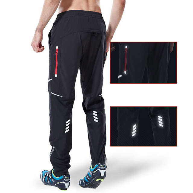 Men's Cycling Pants Hiking Pants Outdoor Breathable Moisture Wicking Quick Dry Anatomic Design Sports Elastane Pants Trousers Bottoms Black Camping Hiking Fishing Mountain Bike MTB Road Bike Race Fit