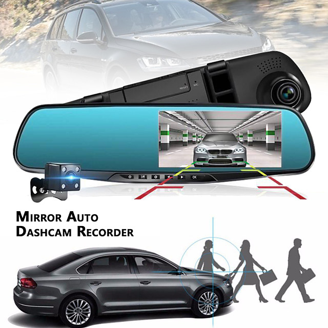 1080p HD / เลนส์คู่ รถ DVR 120 ดีกรี มุมกว้าง 4.3 inch TFT Dash Cam กับ GPS / G-Sensor / ตรวจจับการเคลื่อนไหว ไม่ เครื่องบันทึกในรถยนต์