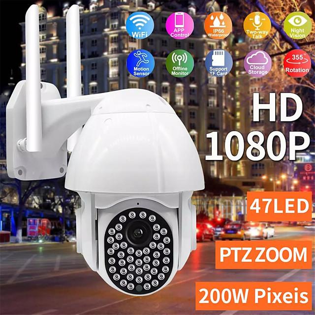 Wifi IP Camera 47 LED 1080P 2MP Outdoor CCTV Surveillance Wireless Camera IP66 Speed Dome 4XZoom IR Network Security
