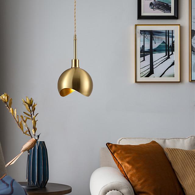 15cm LED Pendant Light Modern Nordic Gold Globe Bowl Bedside Light Downlight Copper Dining Room Bar Restaurant 110-120V 220-240V