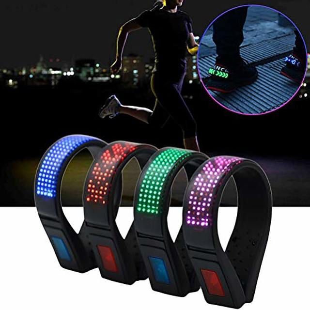 1pcs security clip on running led shoes clip lights usb charging safety clip lights running jogging hiking cycling