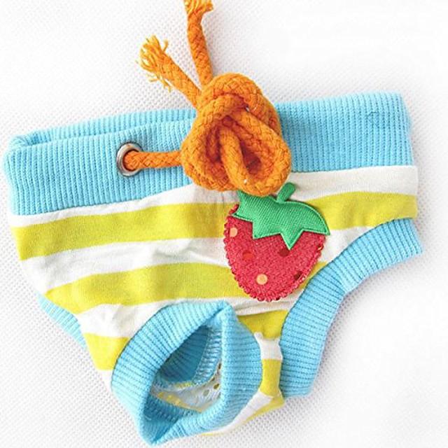 pet dog clothes diapers physiological pants pet pants cotton tighten strap sanitary dog underwear (color : color lake blue, size : m)