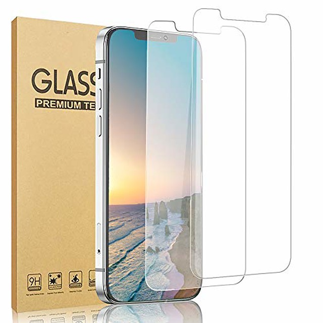 [2 pack]  compatible with iphone 12 / iphone 12 pro tempered glass screen protector [anti-scratch] [no bubble] [case friendly] compatible with iphone 12 / iphone 12 pro 5g (6.1