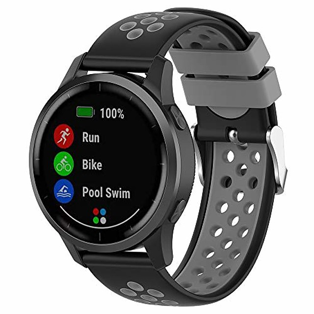 compatible with gear s3 bands,solf silicone replacement band for samsung gear s3 frontier/ s3 classic/galaxy watch 46mm r800 (black gray, large)
