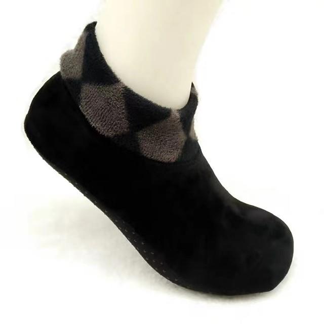 2Pairs Winter Thicken Non-slip Floor Socks Indoor Warm Soft Home Room Short Shoes Fashion Solid Floor Socks