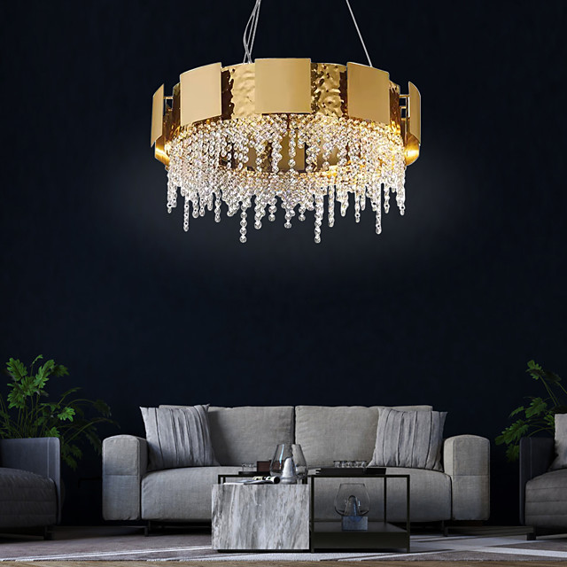 8-Light 60 cm Chandelier Crystal Painted Finishes Traditional / Classic 110-120V / 220-240V