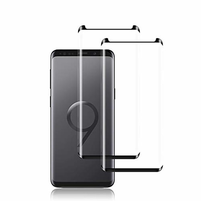 galaxy s9 screen protector by ye, [2 pack] full coverage tempered glass screen protector [3d touch] [bubble-free] [9h hardness] screen protector glass for samsung galaxy s9