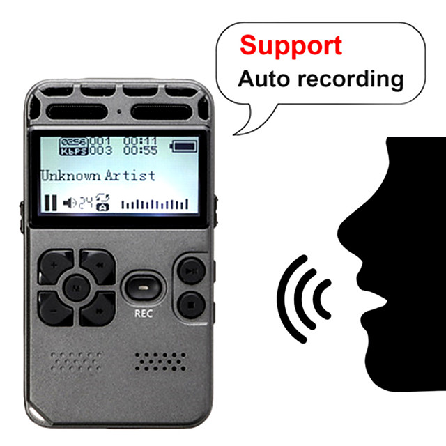 Professional HD Digital Voice One-button Record Noise Reduction Reducation Dictaphone 8G Large Capacity Recorder USB Recharge Support Expansion