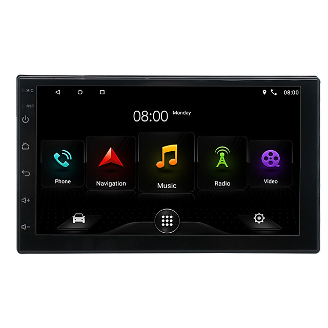 Universal 7 Inch Car MP5 Multimedia Player GPS Car Radio Audio Android 9.1  Wifi FM Radio Gps Navigation