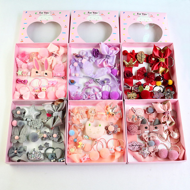 Kids / Toddler Girls' Active / Sweet Floral / Cartoon Floral Style / Bow Hair Accessories Purple / Blushing Pink / Wine