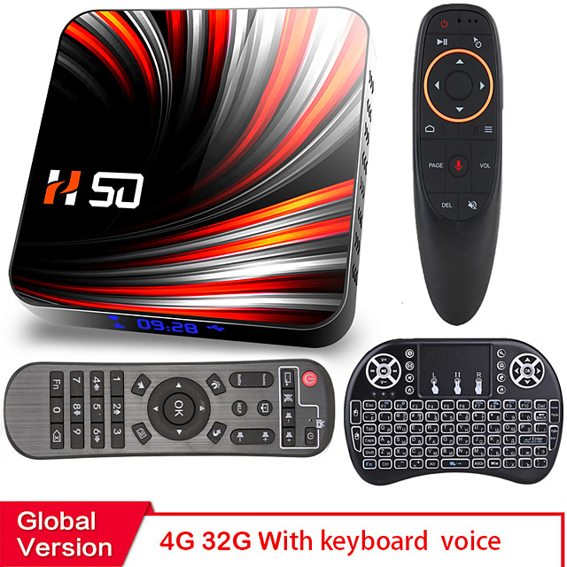 Android TV Box Android 10 12g 4K H.265 Media Player 3D Video 2.4G 5GHz Wifi Bluetooth Smart TV Box Set top box