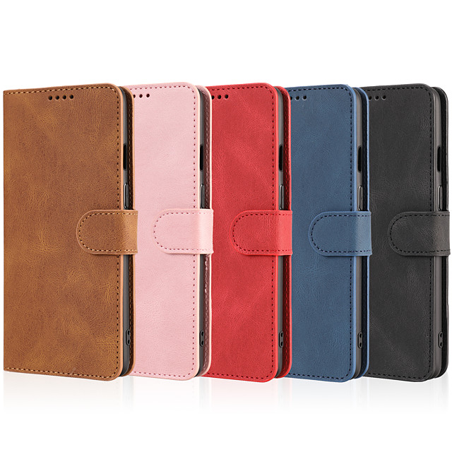 Phone Case For OnePlus Full Body Case Leather OnePlus 8 Pro OnePlus 8 OnePlus 8T OnePlus Nord Shockproof Solid Color PU Leather