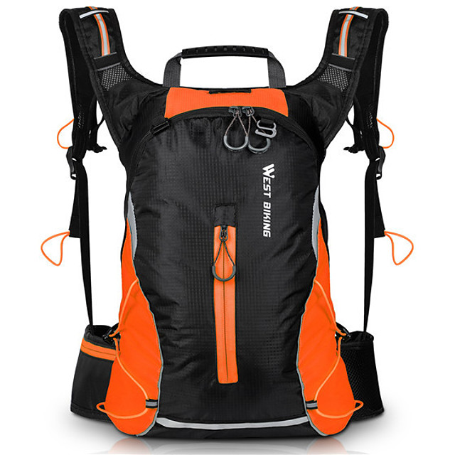 16 L Cycling Backpack Sports & Leisure Bag Large Capacity Scratch-resistant Wearable Bike Bag Spandex Polyester Nylon Bicycle Bag Cycle Bag