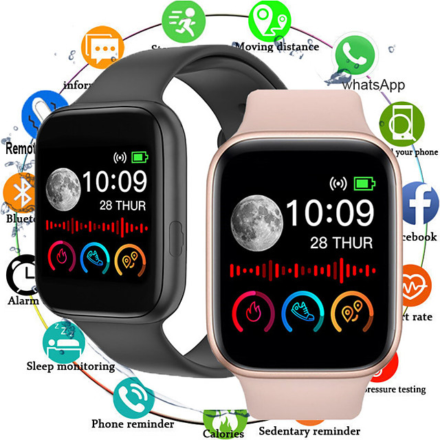 MD2 Smartwatch for Apple/Samsung/Android Phones, Sports Tracker Support Heart Rate/Blood Pressure Measure