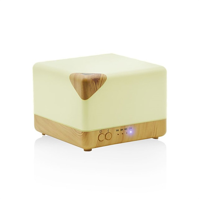 Creative Square Essential Oil Aroma Diffuser Ultrasonic Aromatherapy Humidifier Household Air Humidifier