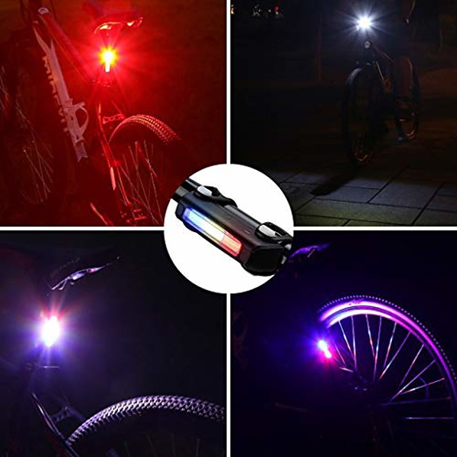 bicycle tail light, usb rechargeable safety lights for bike back light, high visibility led waterproof cycling tail light for helmet/backpack/any bikes -10.22 (size : three)