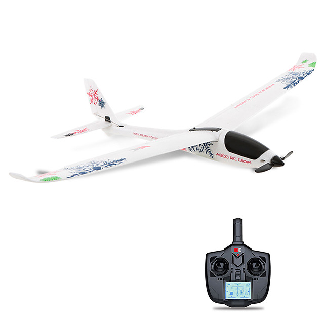 rc airplane, remote control glider rc quadcopter aircraft rc airplane with safe technology (4-ch 2.4ghz transmitter included), easy to fly for adults beginners (red)