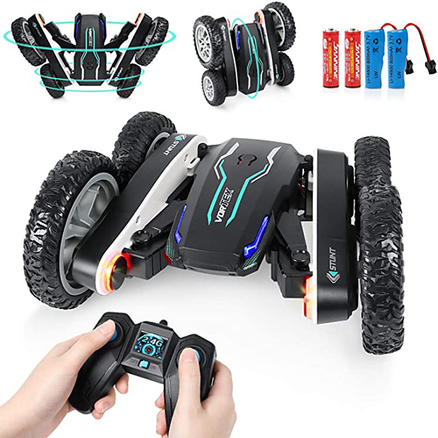 Toy Car Remote Control Car Rechargeable Remote Control / RC Double Sided Rotating Buggy (Off-road) Monster Truck Titanfoot Stunt Car 2.4G For Kid's Adults' Gift