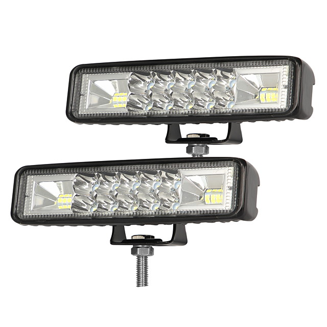 2Pcs 6 Inch LED Work Light Bar Combo Spot Flood Driving Off Road SUV Boat ATV LED Day Driving Fog Lamp Spotlight