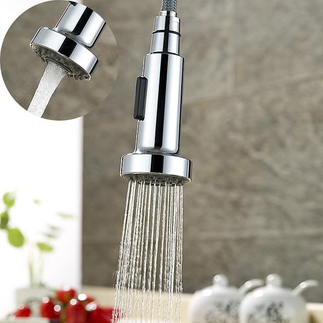 kran tillbehör multifunktion silverfärgad utbytbar utdragbar dusch spray huvud abs plast köksmunstycke