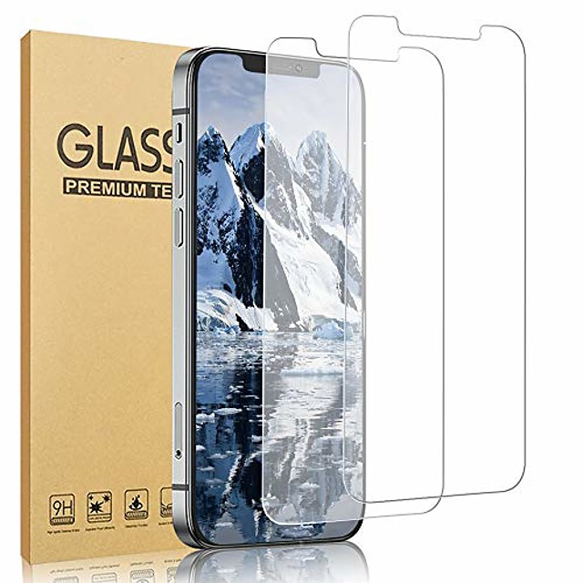 2 pack  compatible with iphone 12 pro max 5g screen protector, tempered glass film hd clarity [6.7 inch] [9h hardness, 6x stronger, scratch resistant, bubble free] work most case